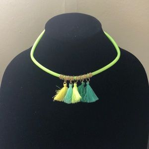 Bright and colorful neon necklace